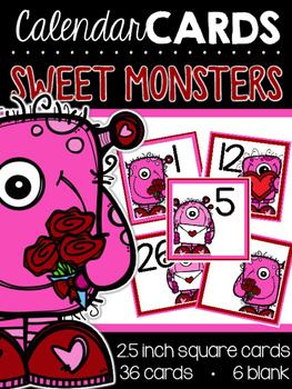 Sweet Monsters Calendar Cards