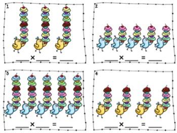 Sweet Multiplication Center Bundle (5 Centers) Common Core Aligned