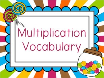 Sweet Multiplication Posters