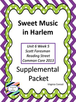 Sweet Music in Harlem--Supplemental Packet--Reading Street Grade 5