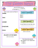 Sweet News (Cupcakes w/ pastel polka dots) Newsletter Template - WORD