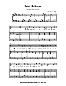Sweet Nightingale: A Cornish Folk Song