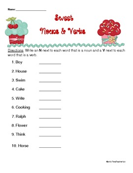 Sweet Nouns and Verbs
