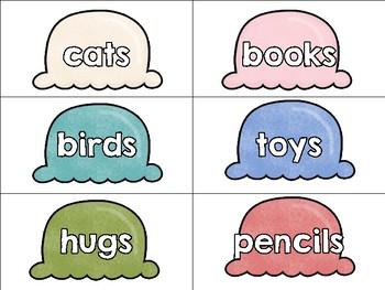 Sweet Nouns {singular/plural matching}