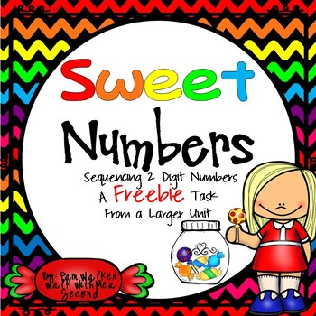 FREE Two Digit Sweet Numbers Sequencing