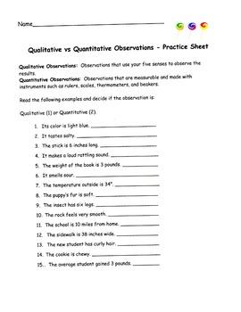 Sweet Observations - Qualitative vs. Quantitative Observation by ...