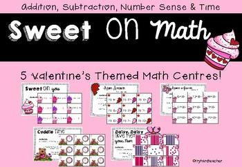 Sweet On Math Valentine's Math Centres