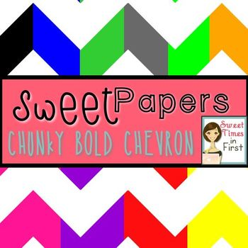 Sweet Papers: Chunky BOLD Chevron {Digital Papers For Commercial Use}
