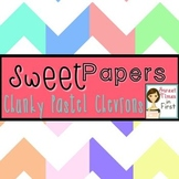 Sweet Papers: Chunky Pastel Chevron {Digital Papers For Commercial Use}
