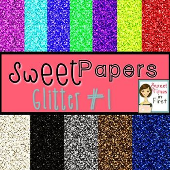 Sweet Papers: Glitters Pack One {Digital Papers For Commercial Use}