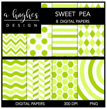 12x12 Digital Paper Set: Sweet Pea {A Hughes Design}