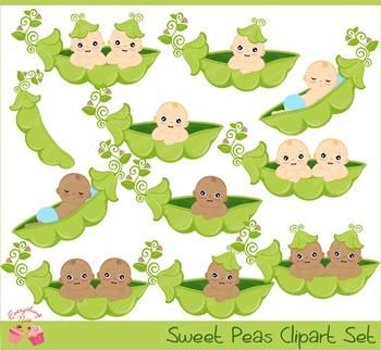 Sweet Peas Clipart
