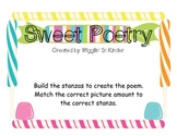 Sweet Poetry - Creating Sentences with Number Word to Picture Matching