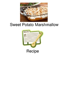 Sweet Potato Marshmallow Casserole - visually supported recipe