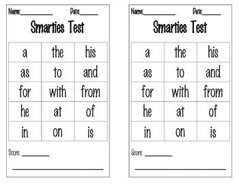 Sweet Readers: A First Grade Sight Word Assessment Pack