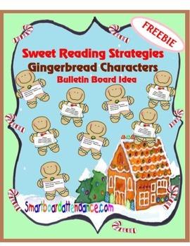 Sweet Reading Strategies Gingerbread Characters