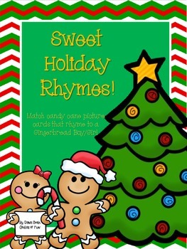 Sweet Rhymes (Match candy cane picture cards to  rhyming GB boy/girl pic cards)