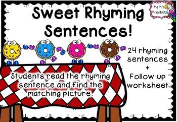 Sweet Rhyming Sentences