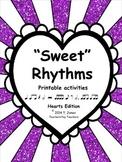 Music Worksheets:  Music Math {Sweet Rhythms - Hearts Edition}