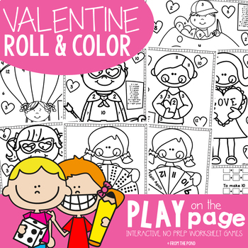 Valentine's Day Roll and Color Math Center