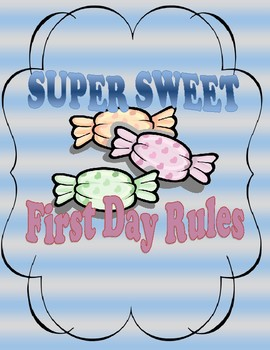 Sweet Rules - First Day Activity