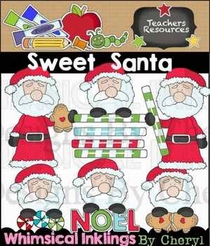 Sweet Santa Clipart Collection