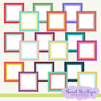 Sweet Scallops Frame and Borders Set