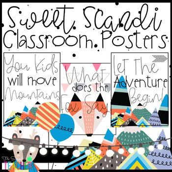 Sweet Scandinavian Modern Classroom Posters