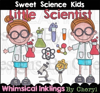 Sweet Science Kids Clipart Collection