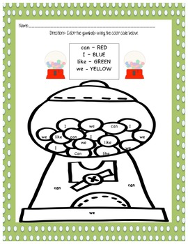 Sweet Sensational Sight Words (Treasures 1st Grade Smart Start and Unit 1)