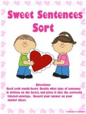 Sweet Sentences Sort! A Valentine's Day Themed Grammar Center Free!