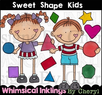 Sweet Shape Kids Clipart Collection