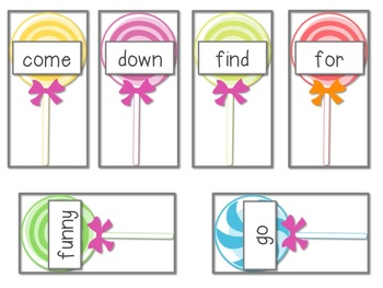 Sweet Shop Sight Word Swap Dolch Sight Word Game