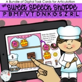 Sweet Shoppe Articulation Boom Card Distance Learning Activity