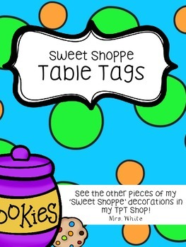 Sweet Shoppe Table Tags