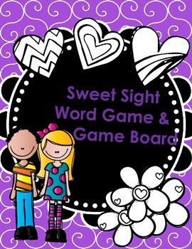 Sweet Sight Word Game and Game Board
