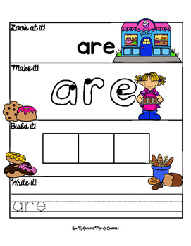 Sweet Sight Word Mats: Primer Edition