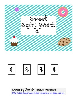 Sweet Sight Word Reading (Cut & Paste) #2