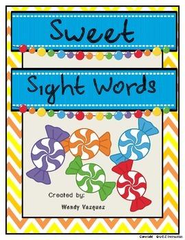 Sweet Sight Words Center