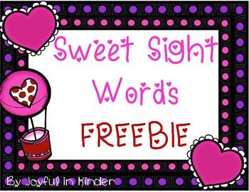 Sweet Sight Words- FREEBIE