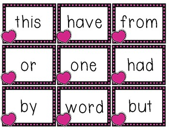 Sweet Sight Words- FREEBIE