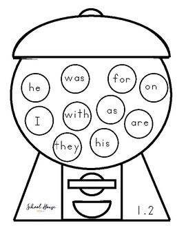 Sweet Sight Words - Fry Words