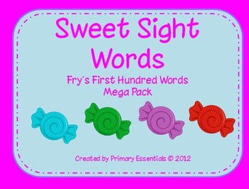 Sweet Sight Words {Fry's First Hundred Words}