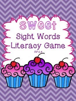 Sweet Sight Words Valentine's Day February Literacy Center Second Grade RF.2.4