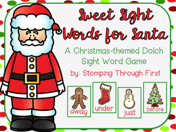 Sweet Sight Words for Santa