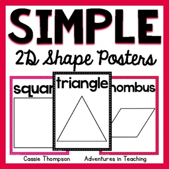 Sweet & Simple 2D Shape Posters