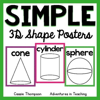 Sweet & Simple 3D Shape Posters