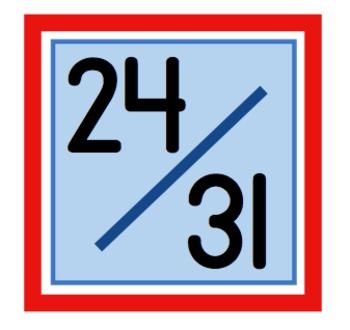 Sweet & Simple Calendar Numbers {Fireworks}