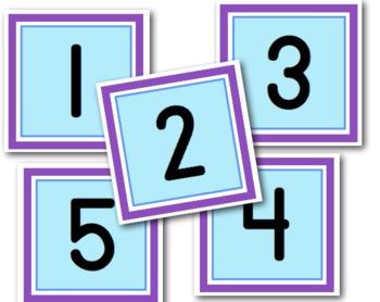 Sweet & Simple Calendar Numbers {Snowflakes}
