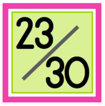 Sweet & Simple Calendar Numbers {Watermelon}